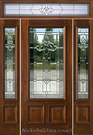 wood and glass exterior doors architecture entry door with sidelights in natural wood color