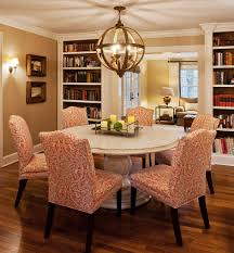 Traditional Dining Room Chandeliers Patterned Dining Chairs Dining Room Traditional With Breakfast