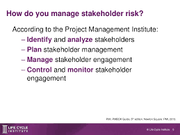 stakeholder risk management