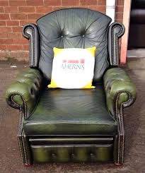 green leather chesterfield recliner arm chair green leather swivel