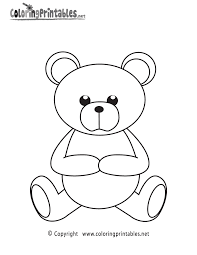 teddy bear coloring page a free girls coloring printable