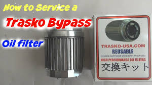 how to service a trasko bypass oil filter on a vw jetta tdi youtube