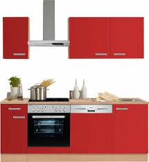 Kleine K Henzeile Kaufen Optifit Küchenzeile Mit E Geräten Odense Breite 210 Cm Online