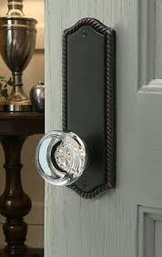 glass crystal door knobs emtek door hardware in crystal and chrome for hallway closet