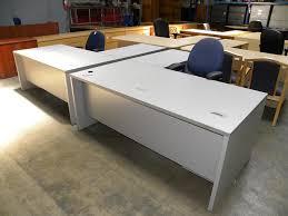 Herman Miller Reception Desk Miller L Shaped Double Locking Pedestal Desk With Wire Grommets