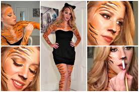 Simple Cat Makeup For Halloween by Tiger Halloween Make Up U0026 Costume Youtube
