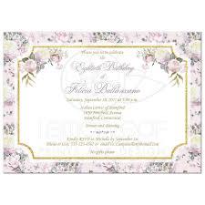80th birthday invitation 3 blush pink white gold roses lilacs