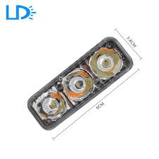 best led daytime running lights 12v 3 led autos white drl daytime running light amber turning signal