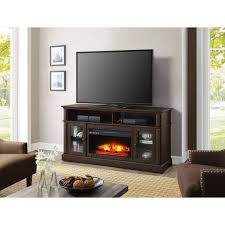 electric fireplace heater brown media cabinet 70 u2033 tv stand