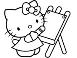 Children Coloringbookhellokitty Hello Kitty Painting Art Colouring Book