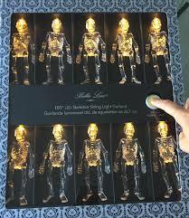 bella lux 10 skeleton skulls halloween lights led string light