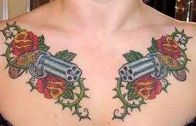 50 most amazing pistol tattoo design pictures