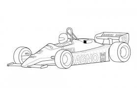 arrows a4 f1 classic race car coloring free cars