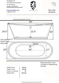 designs fascinating bathtub design 17 average bathroom size in