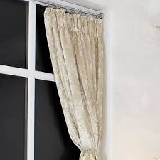 Designer Tie Backs For Curtains Designer Cream Heavy Weight Pencil Pleat Crushed Velvet Curtains