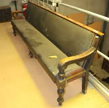 victorian waiting room bench seat settles benches and church