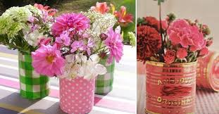 Craft Garden Ideas - 20 tin can craft ideas flower vases and plant pots