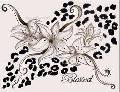 Leopard Print Flower Tattoos - in love with this leopard print tattoo tags animal print