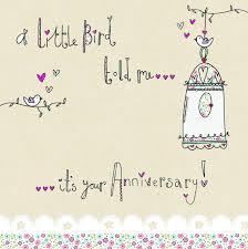 a bird happy anniversary card karenza paperie