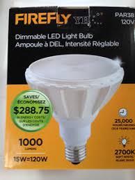 Led Light Bulbs 2700k by 1 Pc Firefly Par38 15w Dimmable Led Light Bulb 1000 Lumen 2700k