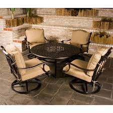 Round Decorative Table Fire Pit Recommended Outdoor Fire Pit Sets Design Casual Patio