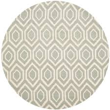 Circular Area Rugs Safavieh Chatham Grey Ivory 4 Ft X 4 Ft Area Rug Cht731e