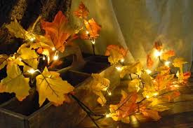 maple leaf garland with lights this maple leaf garland brings the beauty of autumn into the comfort