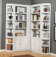 white corner bookcase with doors cheap white bookcase with doors