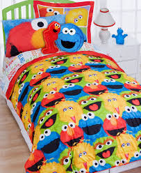 Elmo Bedding For Cribs Sesame Reversible Comforter Set Walmart