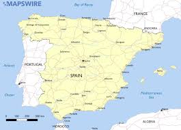 Spain Cities Map by Free Maps Of Spain U2013 Mapswire Com