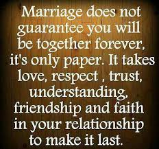 wedding quotes together marriage does not guarantee you will be together forever it s