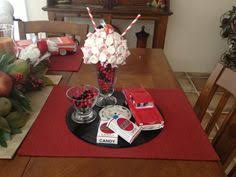 fifties table centerpiece ideas  s party centerpieces http  with s theme centerpiece  yahoo search results from pinterestcom