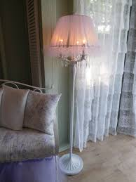 White Shabby Chic Floor Lamp by Refinished Floor Lamp Inside A Romantic Shabby Chic She Shed