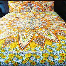 Yellow Patterned Duvet Cover Best 25 Orange Duvet Covers Ideas On Pinterest Bedding Sets