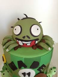 Plants Vs Zombies Cake Decorations Plants Vs Zombies Birthday Cake Cakecentral Com