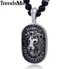 black glass necklace images Trendsmax 70 6cm black glass bead link chain 316l stainless steel jpeg