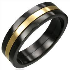 stainless steel rings for men stainless steel jewelry stainless steel rings black gold plated