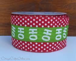 christmas wired ribbon christmas script ribbon