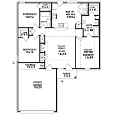 traditional style house plan 3 beds 2 00 baths 1253 sq ft plan