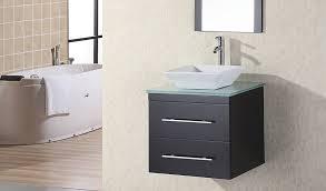 Vanity Discount Code Diy Floating Shelves Bathroom Wooden Vanity Against Dark Gray Wall