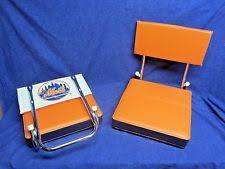 padded stadium chairs wide seat cushion bleacher folding portable