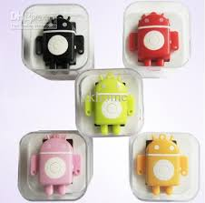 mp3 android android robot mp3 player portable mini android robot mp3