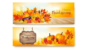 set of happy thanksgiving banners illustrations creative market