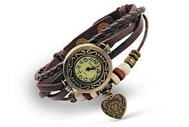 vintage heart bracelet images Boho chic vintage inspired heart bracelet watch free shipping jpg