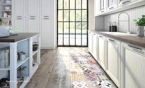 vinyle cuisine carrelage cuisine et tapis de souris bureau unique sympas les tapis