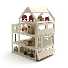 wooden doll house littlesplay like the stairs in this house via