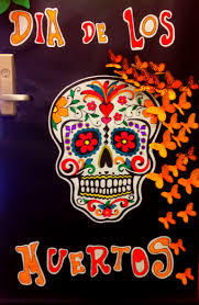 Day of the dead door decoration My students artwork