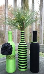 lime green dining table and chairs lime green yarn bottles vase