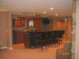 interior design simple finished basement ideas with wooden