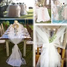 tulle decorations white 54 x120 ft 40 yards tulle bolt wedding decoration bolt pew
